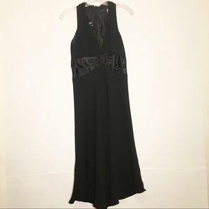 Jones wear black maxi dress sleeveless size 8